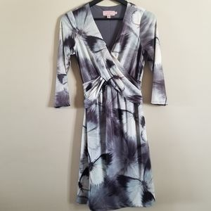 Ted Baker London butterfly print faux wrap dress